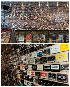Ubiquity Records  The Cassette wall at Tune Up Records, Belgium