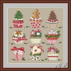 Gallery.ru / Новогодние кексы - Платные схемы - jeyre