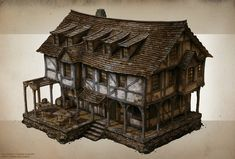 ArtStation - Spellforce 3 Building concepts 1, Raphael Lübke