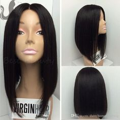Brazilian Virgin 4*4'' Silk Base Full Lace Wig Short Human Hair Bob Wigs Silk Top Lace Front Wigs For Black Women Shop Hair Wigs Laces Wigs From Daisyhumanhairwig, $142.83| Dhgate.Com