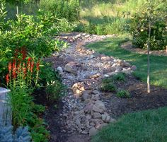 Amazing dry creek bed landscaping pictures built a dry creek bed entirely from rocks I dug