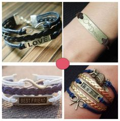 handmade bracelets charms vintage style
