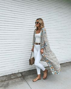 white on white + summer kimono #amazonfashion