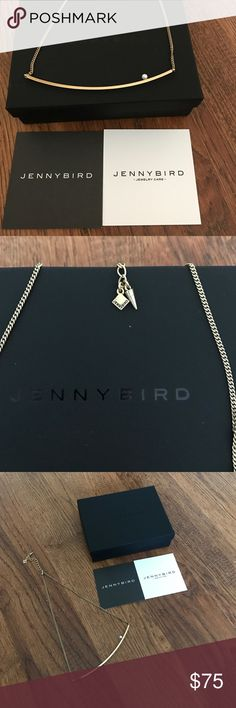 NIB Jenny Bird pearl necklace in rose gold tone. Jenny Bird pearl necklace in rose tone. New (never worn) has adjustable clasp. Item comes with all original JB black box, dust bag and care card. Jenny Bird Jewelry Necklaces