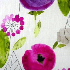 Dahlia fabric of Nobilis on Etoffe.com