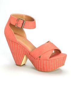 Michael Antonio Coral Terell Platform Sandal by Michael Antonio #zulily #zulilyfinds