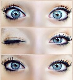 blue makeup for big eyes Blue Eye Makeup Looks