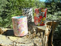 Diy:Back To School {Duct Tape Cup Holder Vase}
