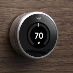 """I finally bought it!!! I think Nest's thermostat is one of the nicest I have ever seen. It is said to be the world's first learning thermostat, equipped with """"smart"""" features and an attractive design. I want one.  http://www.nest.com/"""