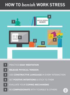 How to Banish Work Stress #stressrelief #work #wellness