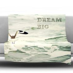 "KESS InHouse Dream Big Throw Blanket Size: 60"" L x 50"" W"