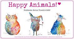 Malen mit viel Freude und Leichtigkeit: Lass uns im Happy Animals-Kurs gemeinsam kreativ werden und dabei jede Menge Spaß haben!