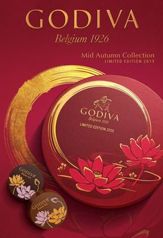 2015GODIVA歌帝梵中秋系列_网易旅游 Tea Packaging, Luxury Packaging, Candy Packaging, Dm Poster, Notebook Cover Design, Red Packet, Food Poster Design, Tea Brands, Chinese Design