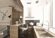 Картинки по запросу кухня вдоль большого окна дизайн