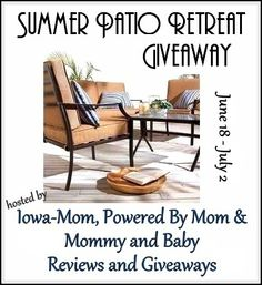 A Giveaway 4U: Summer Patio Retreat Giveaway Event 6/18- 7/2