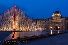 Blue hour at the Louvre www.edithlevyphotography.com