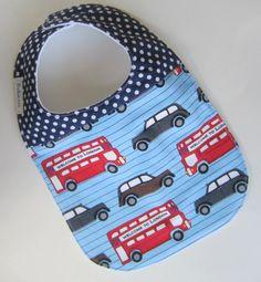 Baby BOYS Bib  Union Jack Baby / British London Cars / by Babiease