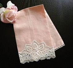 love this linen and lace guest towel