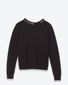 Check out Classic Crewneck Sweatshirt in Black French Terrycloth at http://www.ysl.com/en_US/shop-products/Men/Ready-To-Wear/Top-Sweat/classic-crewneck-sweatshirt-in-black-french-terrycloth_805116415.html