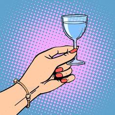 Glass Wine Woman Toast