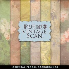 New Freebies Kit of Oriental Floral Backgrounds