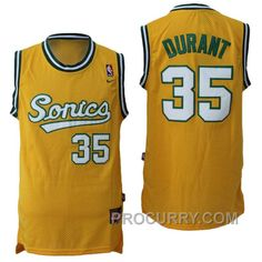 b884f25c106 Kevin Durant Seattle Supersonics #35 Throwback Vintage Swingman Yellow  Jersey, Price: $68.00 - Stephen Curry Shoes Under Armour Store Online