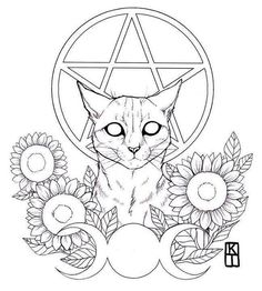 Art of Krista Tyni Tattoo Design Drawings, Art Drawings, Coloring Books, Coloring Pages, Colouring, Arte Grunge, Witch Tattoo, Tattoo Flash Art, Witch Art