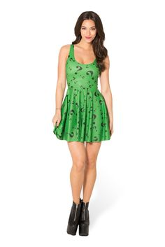 The Riddler Scoop Skater Dress (WW $95AUD / US $90USD) by Black Milk Clothing