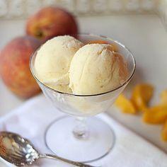 Homemade Peach Ice Cream from @Lana Stuart | Never Enough Thyme http://www.lanascooking.com/2011/05/31/homemade-peach-ice-cream/