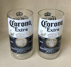 Corona glasses repurposed from 12 ounce bottles by Bottleford on Etsy
