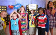 Superhero Birthday Party Centerpieces & Photo Opp Signs (FREE Printables) | Jolly Mom: Recipes | Crafts | Atlanta Mom Blogger | Brand Ambassador | Product Reviews