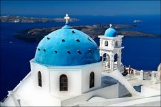 Santorini, Greece, extremely beautiful, minus the massive crowds of tourists and overzealous sales people.