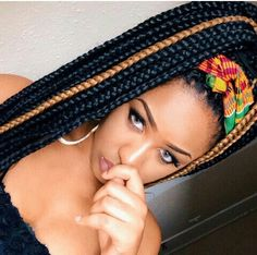 box braids, afro harstyle, black girl, black womens inspiration, hair