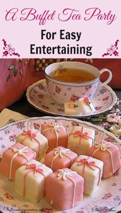 Planning A Buffet Tea Party For Easy Entertaining | whatscookingamerica.net | #afternoon #tea #party #buffet