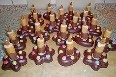 Lebkuchen - Kerze 6 Theme Carnaval, Food Items, Gingerbread Cookies, Gingerbread Houses, Gourmet Recipes, Super, Candles, Dessert, Kindergarten