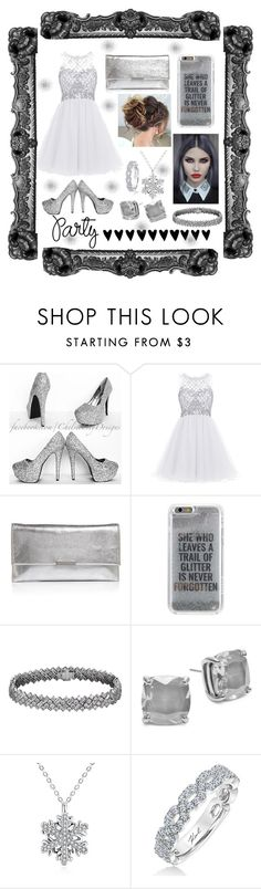 """""""Grey"""" by jumainakmir ❤ liked on Polyvore featuring Loeffler Randall, Agent 18, Kate Spade, Karl Lagerfeld, awesome, party, metallic, partydress and minidress"""