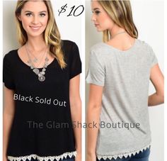 So perfect for spring & summer!!    Lightweight tee. Available in gray only. Black is sold out.     Jersey knit. So soft & comfy.     Small fits 4/6.     Medium fits 8/10.     Large fits 12/14.     FREE US Shipping!!🌟 | Shop this product here: http://spreesy.com/theglamshackboutique/631 | Shop all of our products at http://spreesy.com/theglamshackboutique    | Pinterest selling powered by Spreesy.com