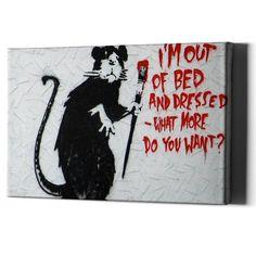 Banksy Gangsta Music Rat STENCIL Wall Graffiti Art Airbrush Template Mylar