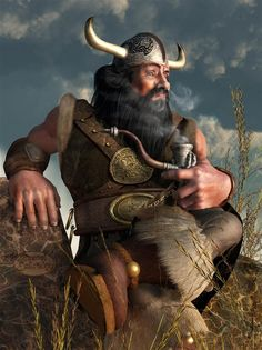 Smoking Dwarf by Deskridge... Poser Pro...