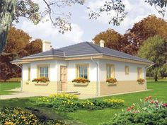 Explore and get connected with a silent environment. This serene traditional bungalow house design, will offer you solemnity and peace you truly deserve. Bungalow House Design, Design Case, Home Fashion, House Plans, Environment, Traditional, How To Plan, Mansions, House Styles