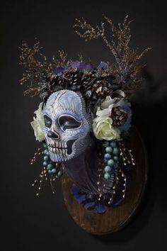 Sugar Skull Sculptures - The Krisztianna Muertita Wall Mounts Contemplate Mortality (GALLERY)