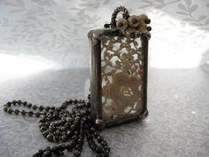 Vintage Lace Necklace. Vintage Lace Trim Beveled by Jeweliansun