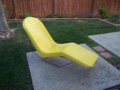 $750 Mid Century Modern FIBRELLA Fiberglass Pool Patio Chaise Lounge Chair