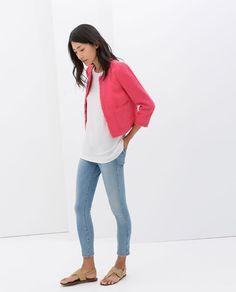 Zara also in mint & ecru