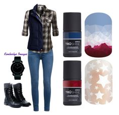 """""""Guess Doctor Who Jamberry Nails"""" by kspantongroup on Polyvore featuring beauty, Paige Denim, J.TOMSON, Joules and Movado"""