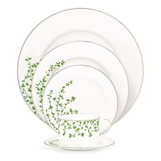 Gardner Street Green by Kate Spade: 20 piece set for $584.50, available at William Ashley China, 1-800-268-1122.