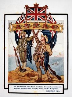 Illustration / Anzac troops after the fighting at Gallipoli WWI