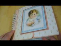 """baby album made with Graphic 45   """"little darling"""" paper"""