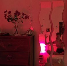I resto liked the mirrorz Room Ideas Bedroom, Dream Bedroom, Bedroom Decor, Chill Room, Pretty Room, Red Rooms, Room Goals, Aesthetic Room Decor, Cool Rooms