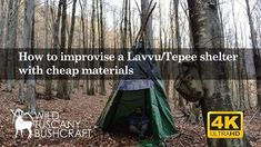 How to improvise a Lavvu/Tepee shelter with cheap materials Space Blanket, Bushcraft Skills, Tuscany, Shelter, Trash Bag, Youtube, Minimal, Camping, Survival